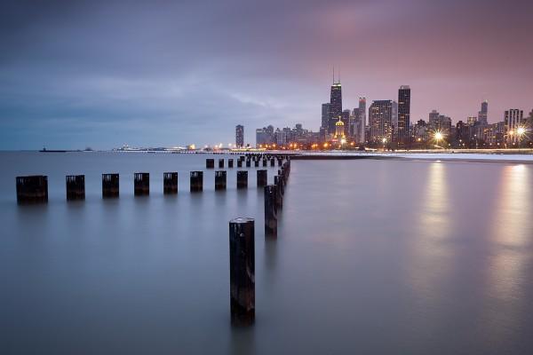 Cara norte de la ciudad de Chicago