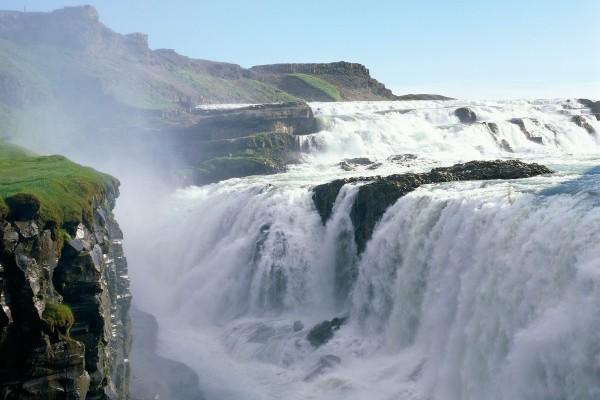 Gullfoss (Cascada Dorada), en Islandia