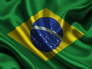 Postal: Bandera de Brasil