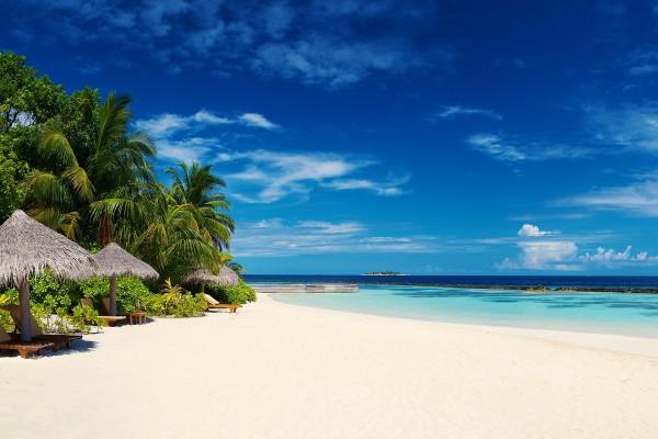 Una playa espectacular en las Maldivas