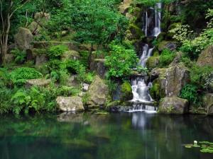 Postal: El Jardín Japonés de Portland, en Portland (Oregón, Estados Unidos)