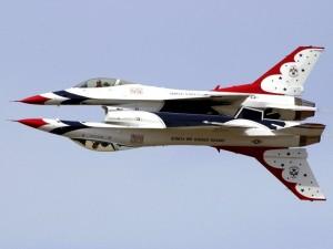 Acrobacias del grupo de vuelo acrobático Thunderbirds (USAF)