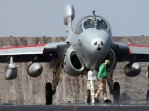 Listo para despegar de un portaaviones