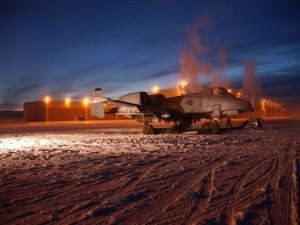 Un A-10 Thunderbolt II del 355 Escuadrón de Caza