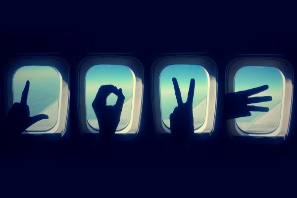 Un mensaje de amor desde un avión