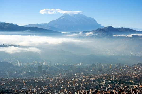 Panorámica de la ciudad de La Paz (Bolivia)