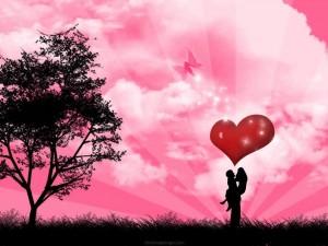 Una feliz pareja de enamorados