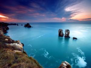 Postal: Mar azul