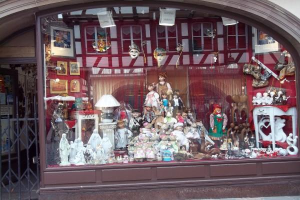 Escaparate en la ciudad de Estrasburgo, Francia