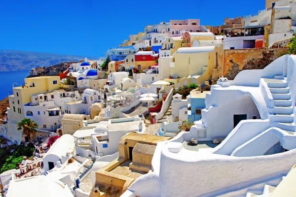 Pueblo de Oia, en Santorini (Grecia)