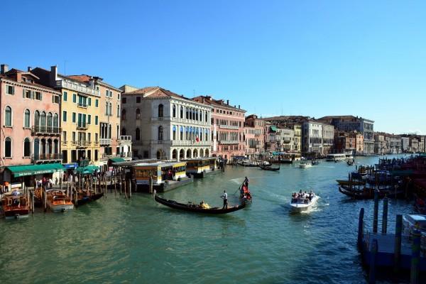 El Gran Canal de Venecia, Italia