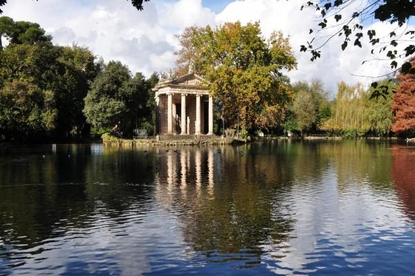 El parque Villa Borghese (Roma, Italia)