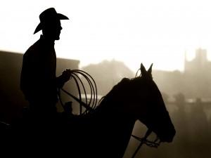 Perfil de un auténtico cowboy