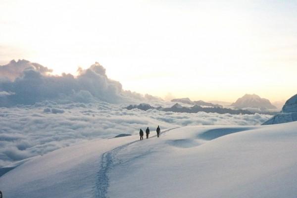 Un paseo por encima de las nubes