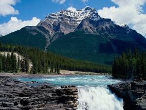 Athabasca Falls, Parque nacional Jasper (Alberta, Canadá)