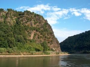 Postal: El risco Lorelei, valle del Rin (Alemania)