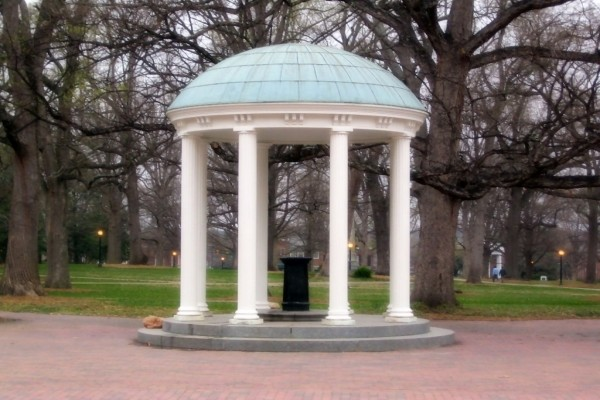 Old Well, situado en la Universidad de Carolina del Norte (Chapel Hill)
