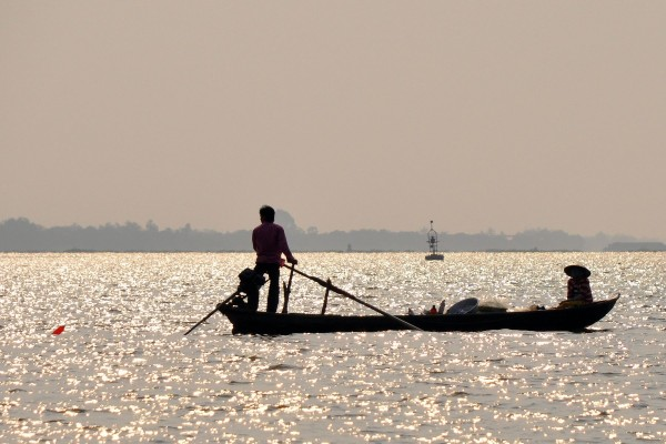 Barca en el río Mekong