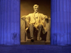 Estatua de Abraham Lincoln en el Lincoln Memorial (Washington DC, Estados Unidos)