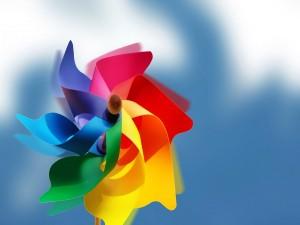 Postal: Molinete de colores
