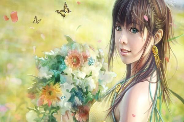 Chica en primavera