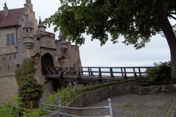Una de las entradas al Castillo de Liechtenstein (Austria)