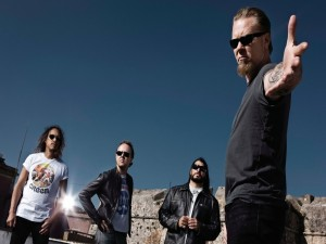 Postal: Los componentes del grupo Metallica
