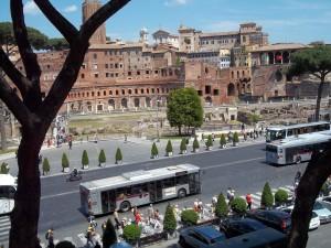 Postal: Escavaciones arqueológicas en la ciudad de Roma