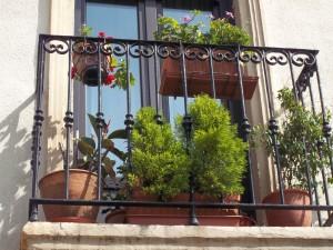 Postal: Un típico balcón español
