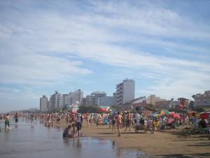 Postal: Playa de Santa Teresita (Buenos Aires, Argentina)
