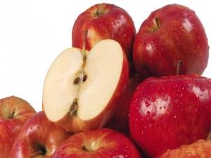 Postal: Manzanas rojas