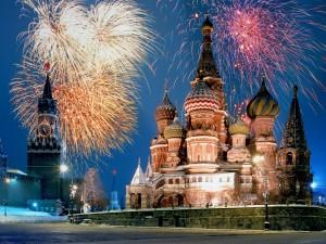 Postal: Catedral de San Basilio, en la Plaza Roja de Moscú