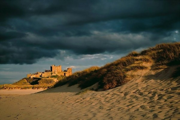 Castillo de Bamburgh (condado de Northumberland, Inglaterra)