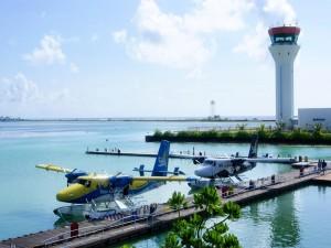 Postal: Aeropuerto para hidroaviones (Islas Maldivas)