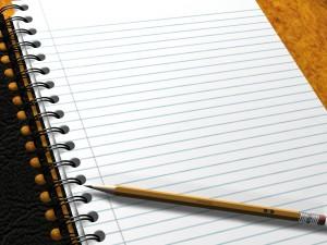 Postal: Cuaderno en blanco