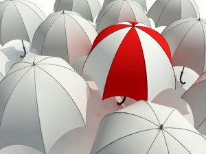 Postal: Un paraguas diferente