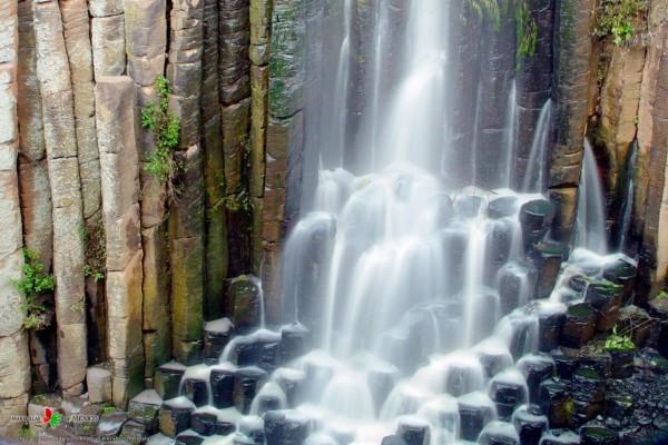 Cascada de los prismas basálticos de Santa María Regla (Hidalgo, México)