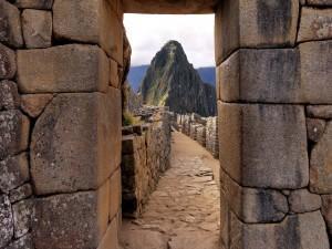 Construcciones en piedra de Machu Picchu (Perú)