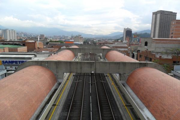 Vías del Metro de Medellín, Colombia