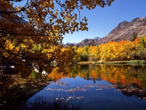 Sierra Oriental en otoño, California