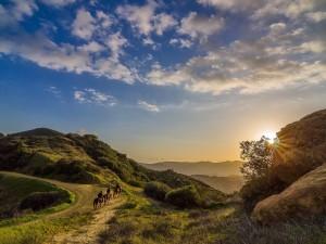 Montando a caballo en un lugar de Topanga, California