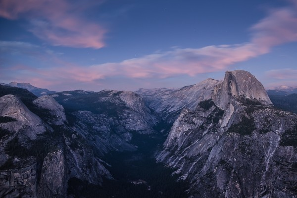 Half Dome visto desde Glacier Point (California)