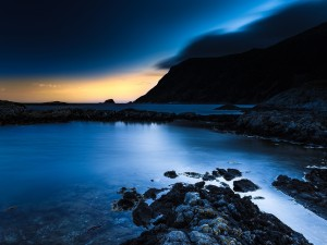Un cielo espectacular en Bremanger, Noruega