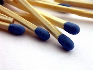 Fósforos de cabeza azul