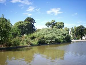 Pequeño lago del Parque Centenario de Buenos Aires (Argentina)