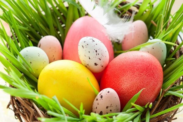 Nido de huevos de Pascua