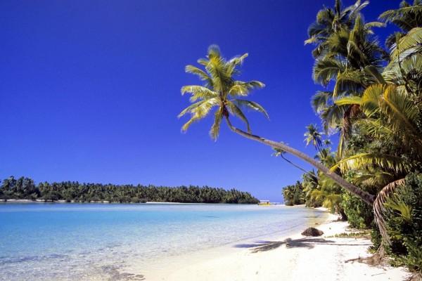 Una hermosa playa en las Islas Cook
