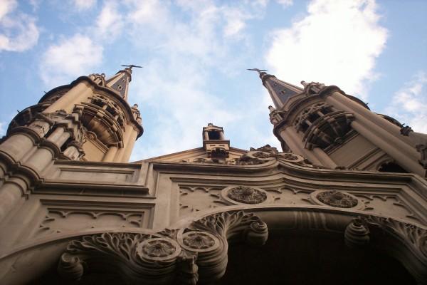 Fachada de una iglesia en Santa María, Buenos Aires, Argentina
