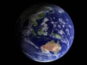 El planeta Tierra, mostrando parte de Asia y Oceanía