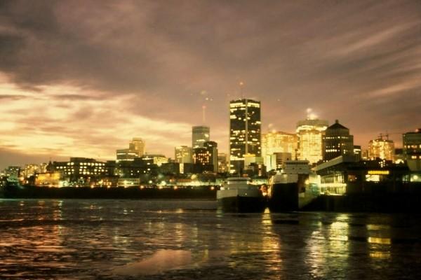 El centro de Montreal, Canadá